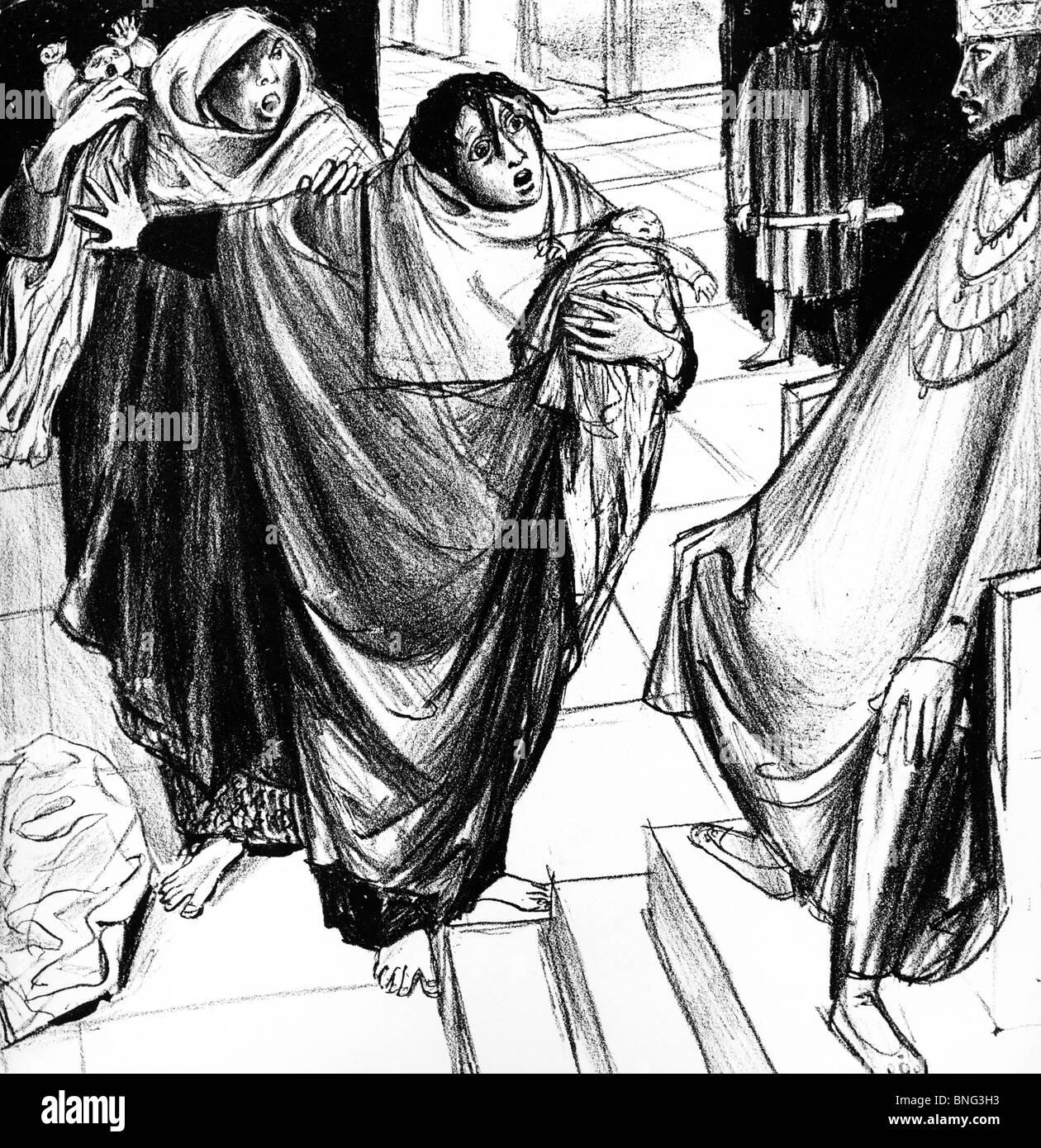 Solomon's Judgment by Felix Hoffmann - Stock Image