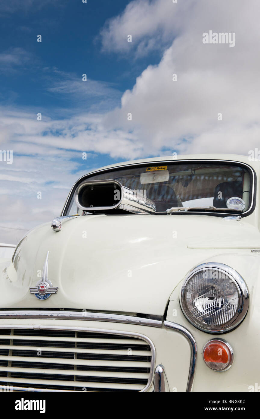 Morris Minor Traveller drag car at Santa Pod Retro Show 2010 - Stock Image