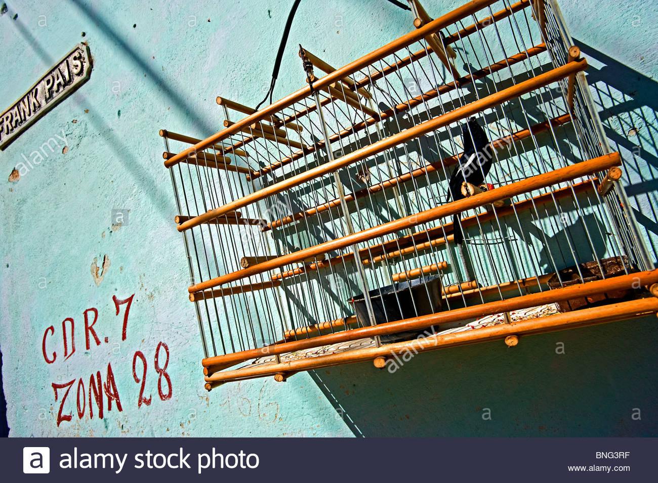 Bird's cage. Trinidad,Cuba - Stock Image