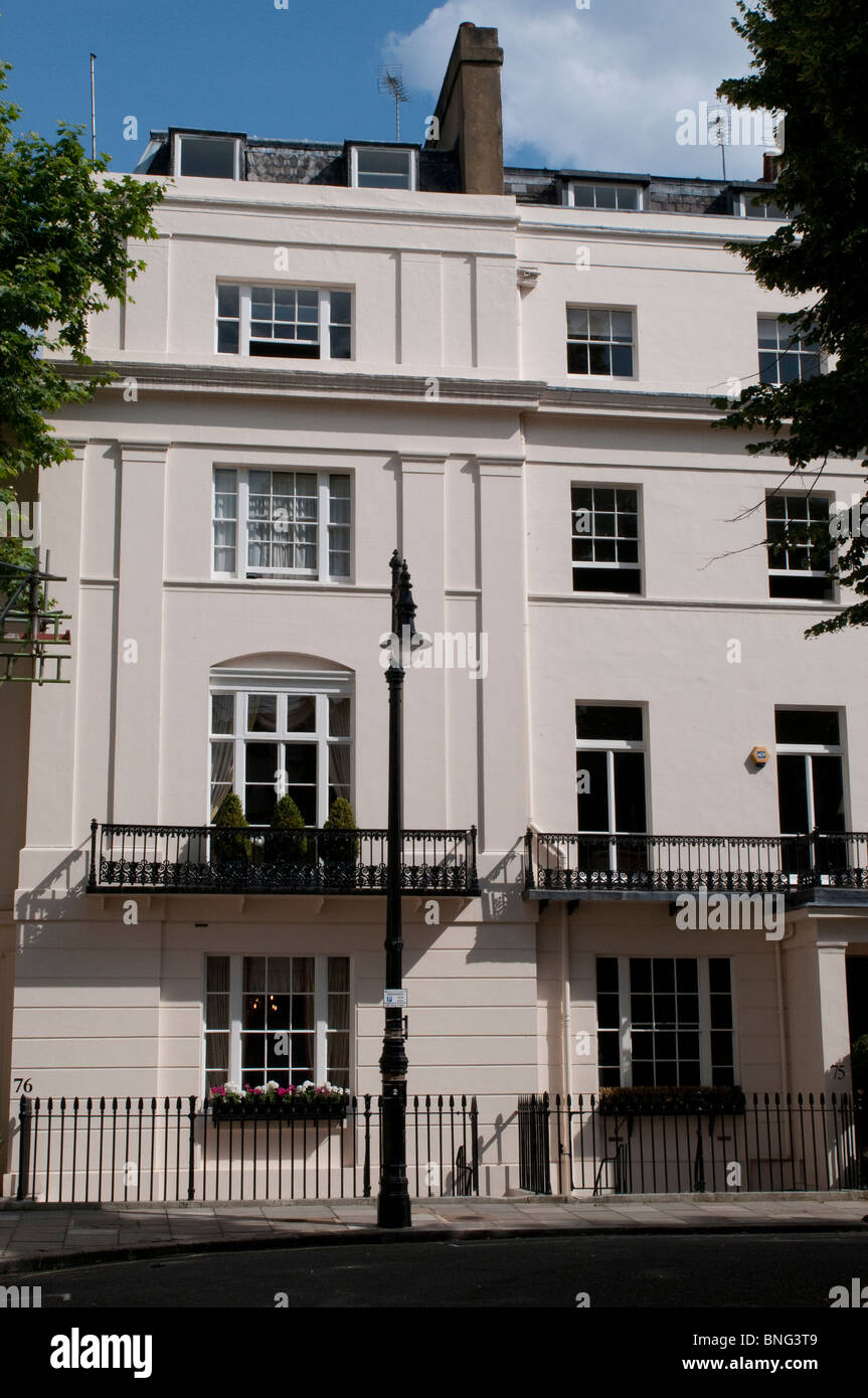 Colombian Embassy, Eaton Square, London, SW1, UK - Stock Image