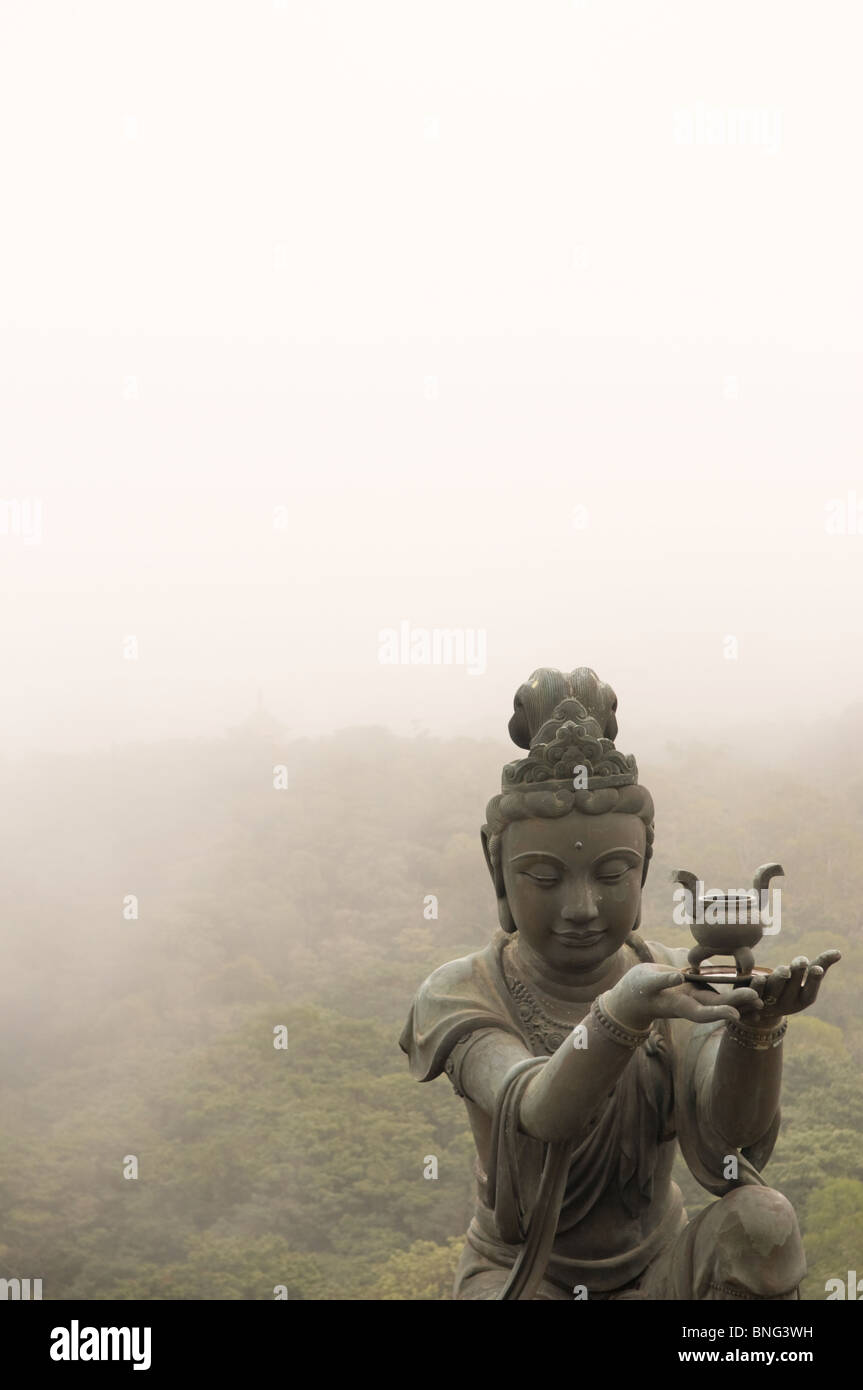 Statue at the Po Lin Monastery Lantau Hong Kong China - Stock Image