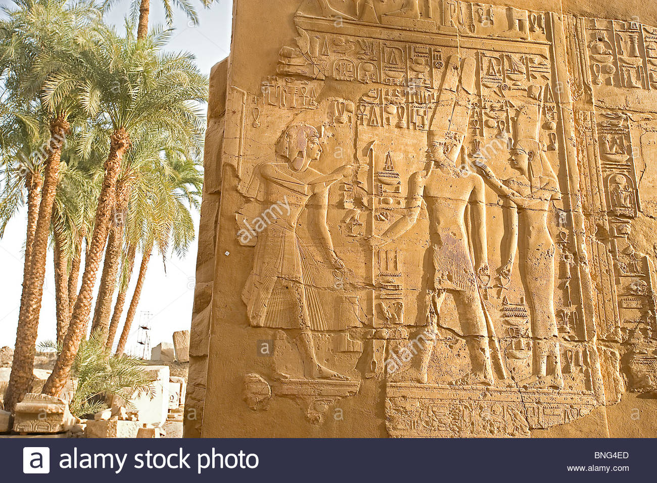 Temple of Amon-Ra,El Karnak,Egypt - Stock Image