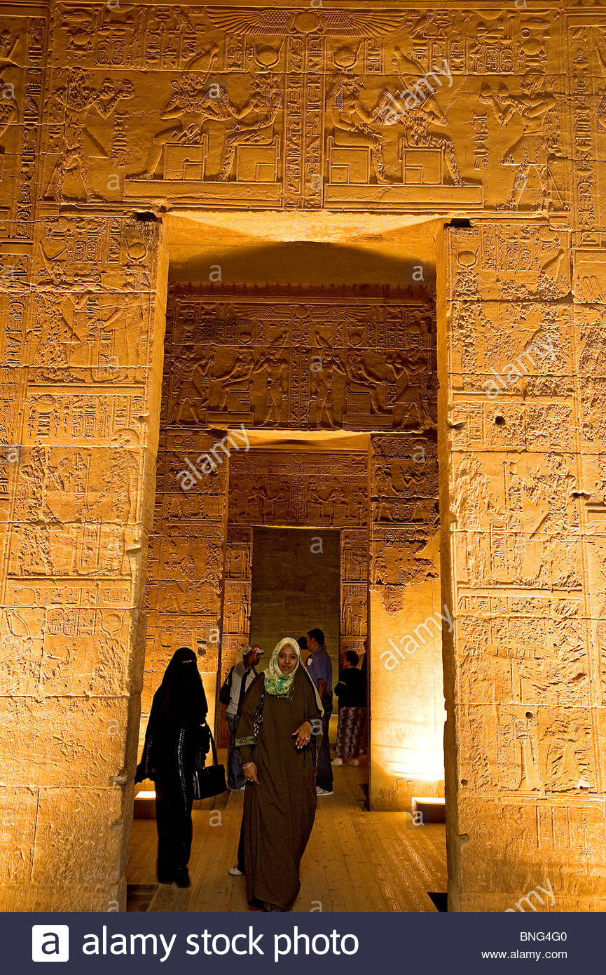 The Philae temple dedicated to god Isis. Egypt - Stock Image