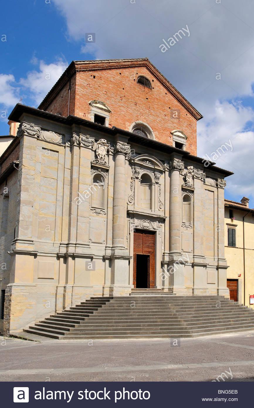 cathedral,città di castello,umbria,italy - Stock Image