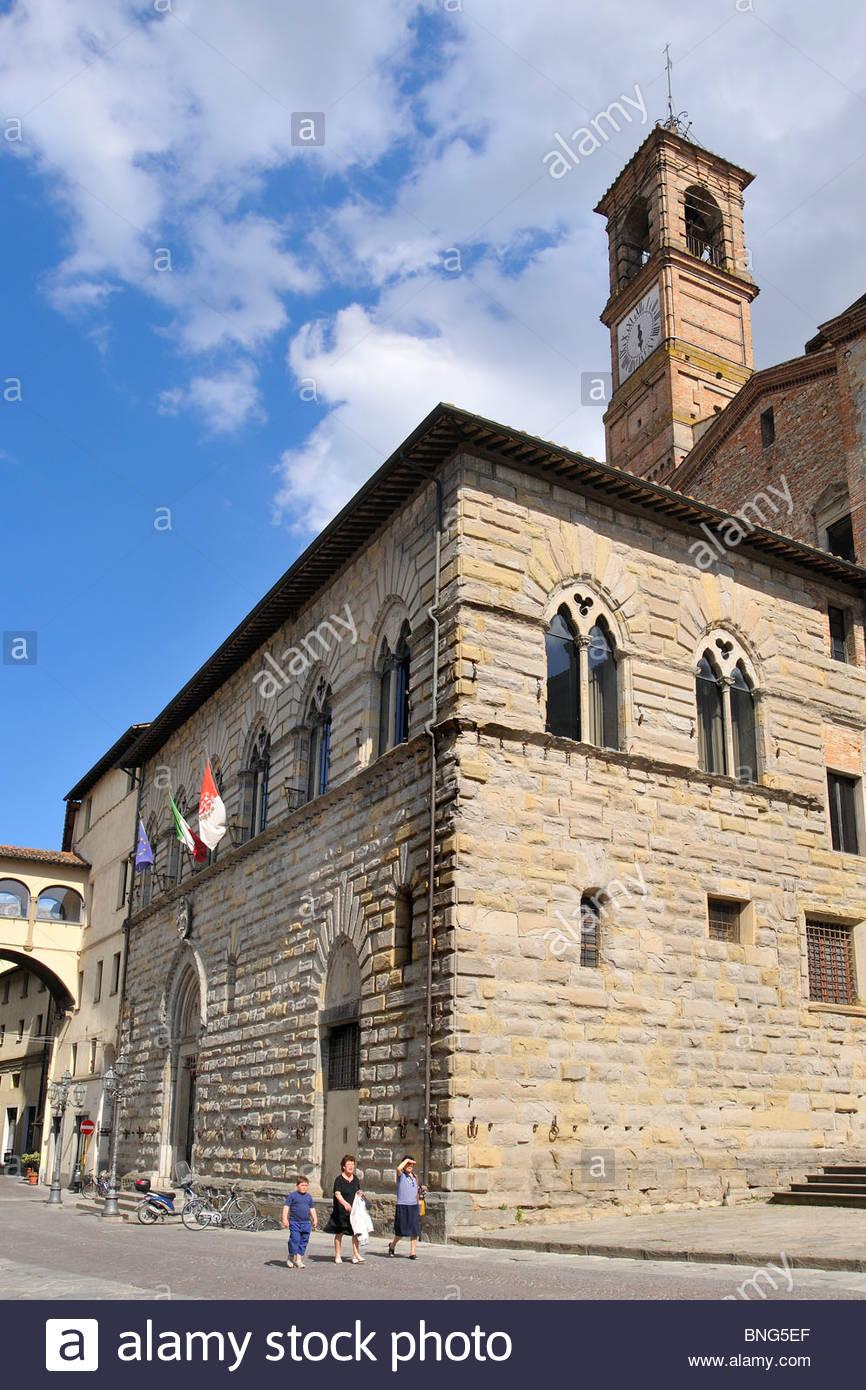 town hall,città di castello,umbria,italy - Stock Image