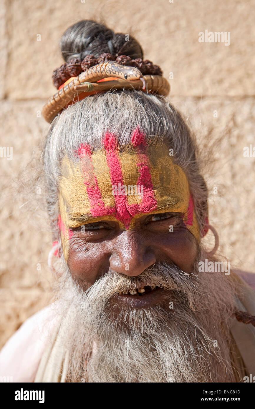 Indian sadhu. Varanasi (Benares). India - Stock Image