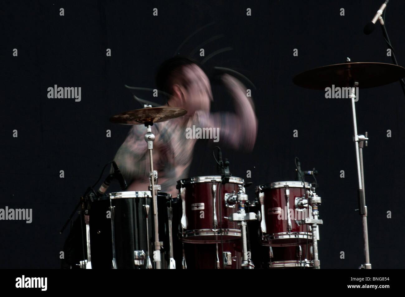 Trevor Friedrich, drummer of Combichist - Stock Image