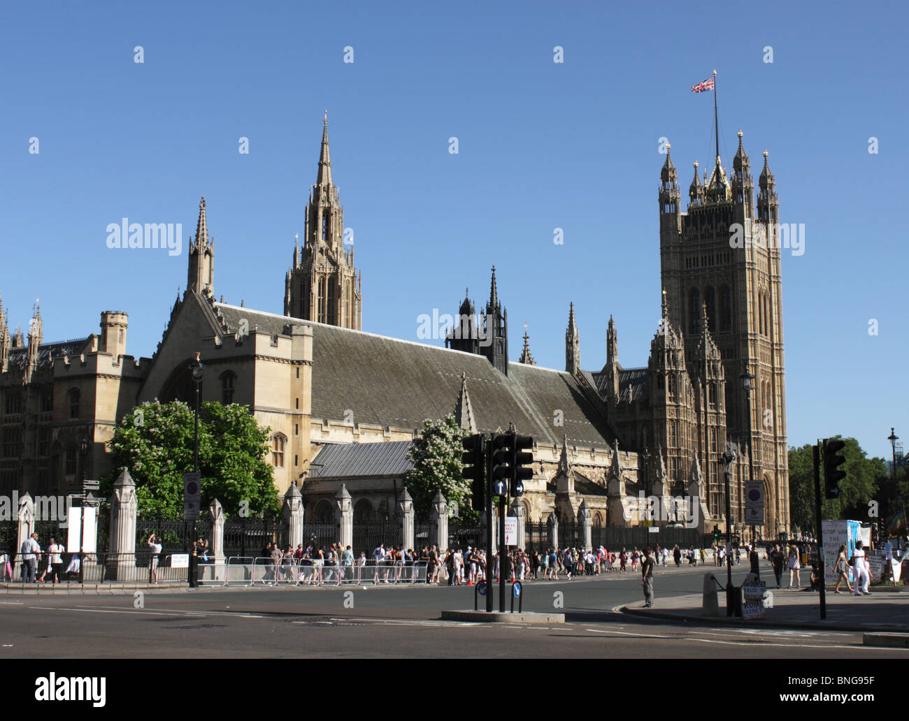 Parliament Square Westminster London summer 2010 Stock Photo