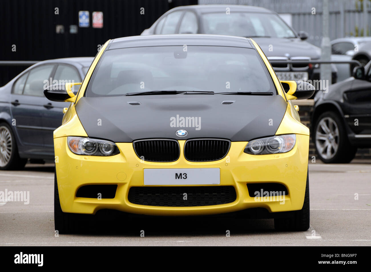 New BMW M3 Car On Dealeru0027s Forecourt   Stock Image
