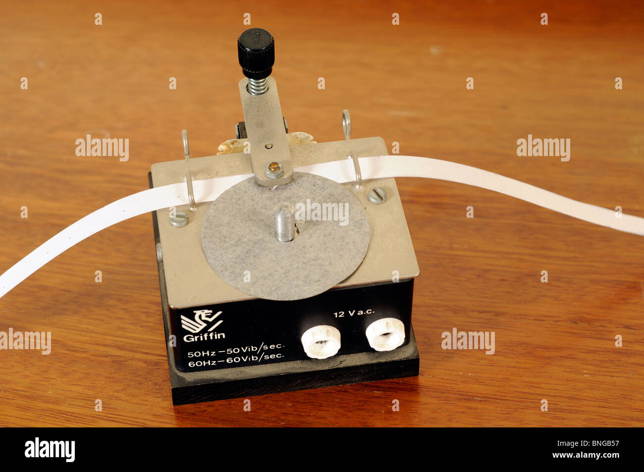 Ticker tape timer - Stock Image