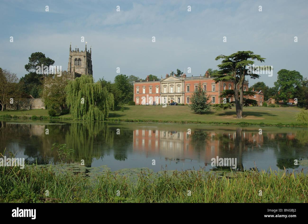 Staunton Harold Hall and church, Leicestershire, England, UK - Stock Image
