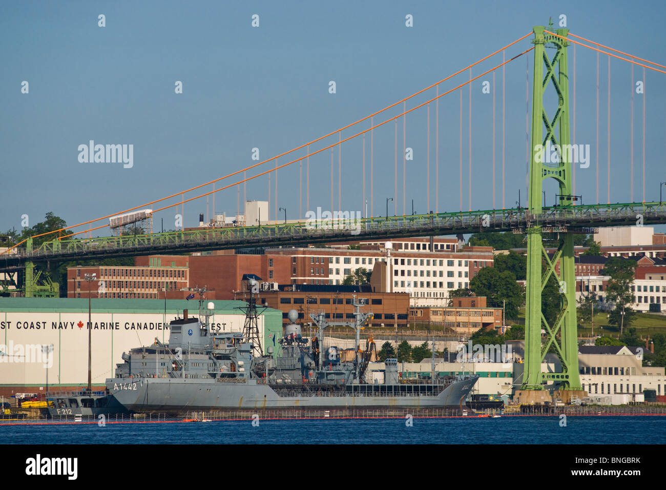 German Navy underway replenishment vessel FGS SPESSART alongside during the 2010 Fleet Review in Halifax, NS. - Stock Image