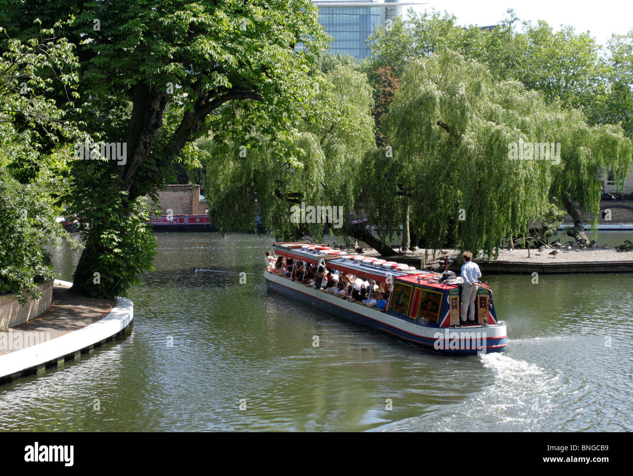 Canal Boat at Little Venice London Stock Photo