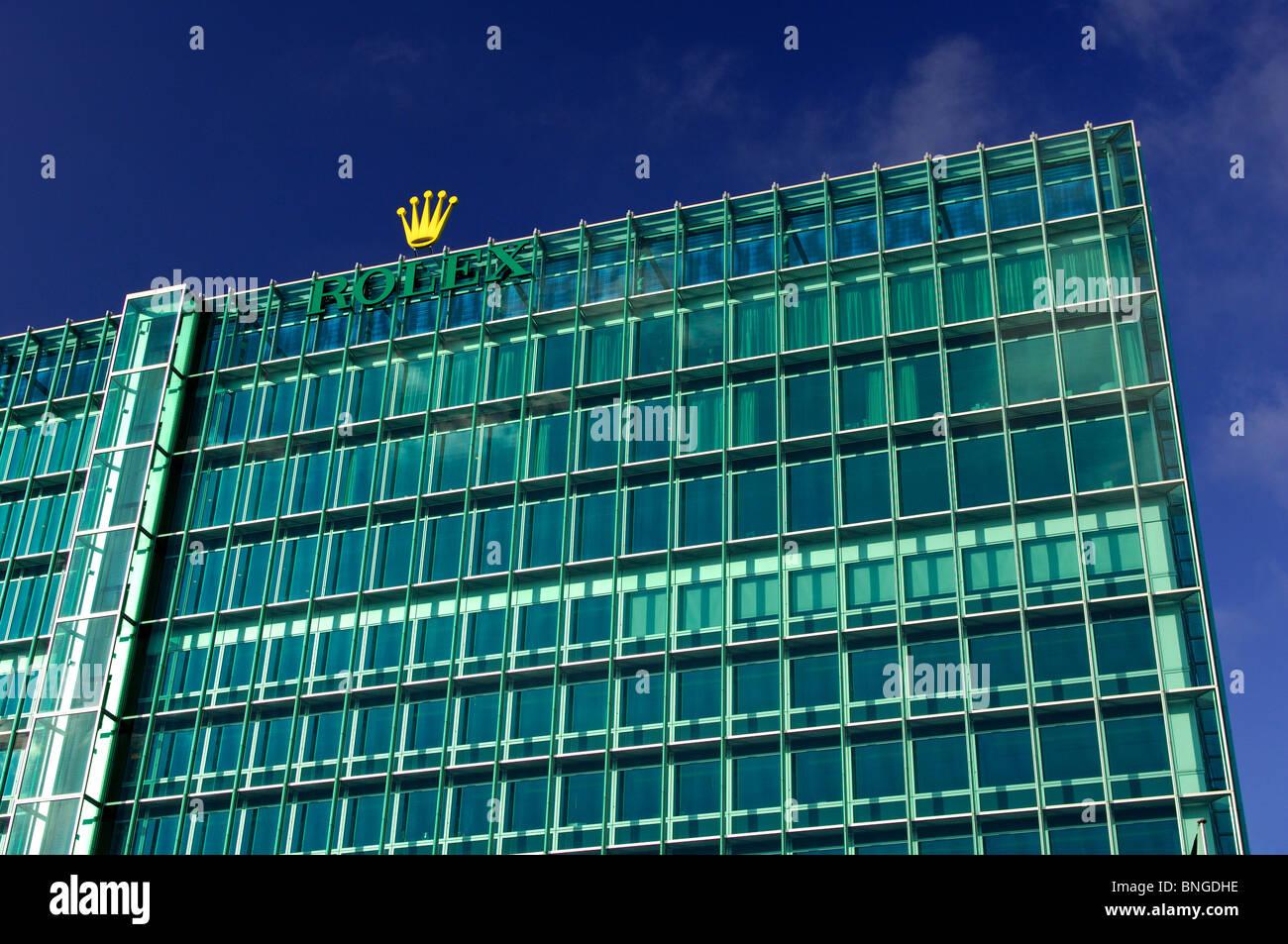 Headquarters of the Swiss watch manufacturer Rolex SA in Geneva, Switzerland - Stock Image