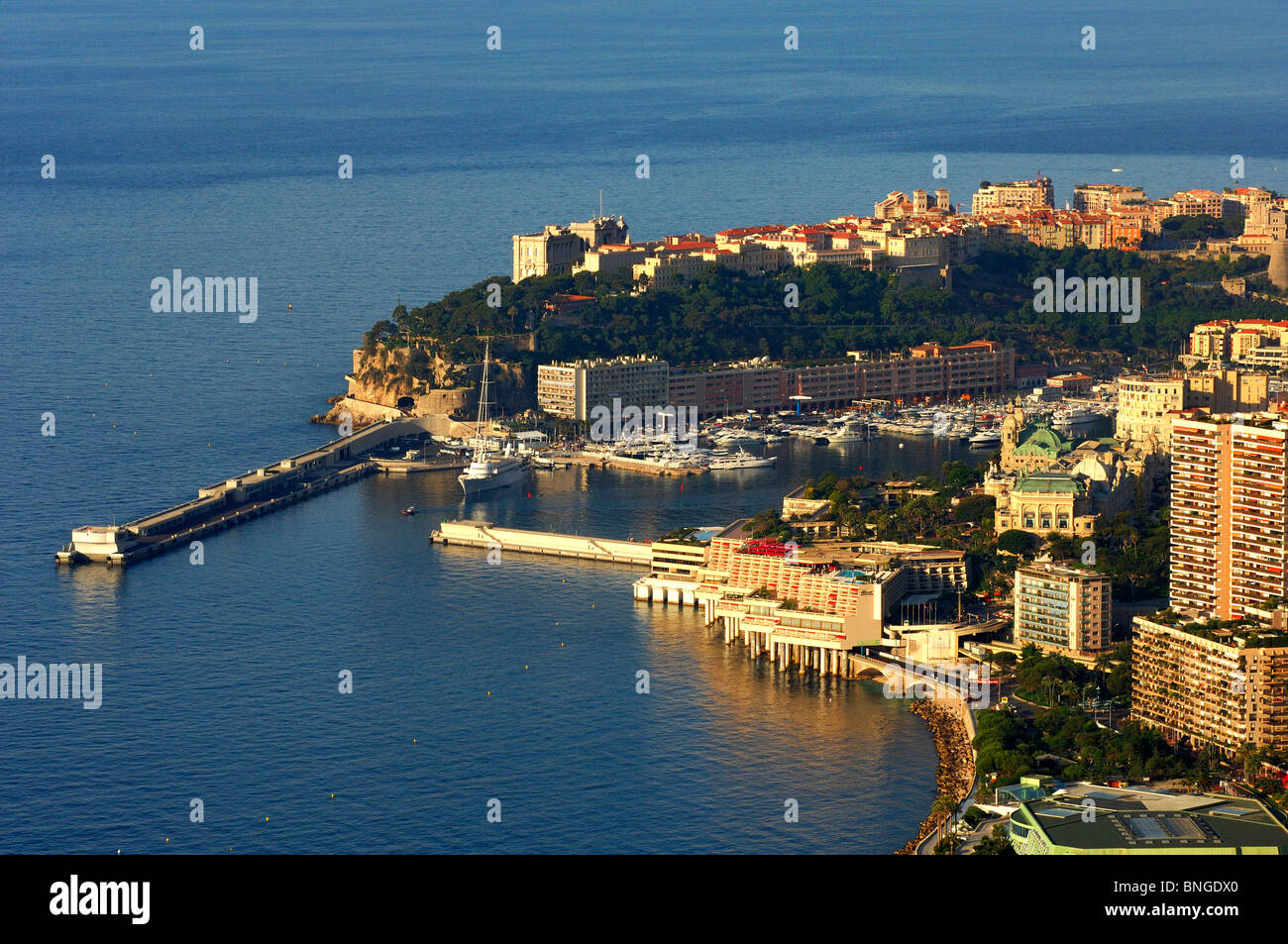 Entrance to the Port of Hercule, Monte Carlo, Monaco - Stock Image