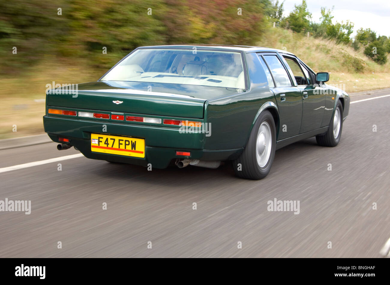 Aston Martin Lagonda 4 Door Saloon Super Car 1976 1989 Stock Photo Alamy