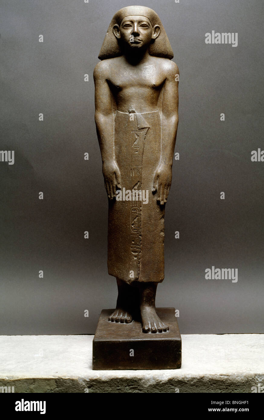 Statue of the Chief of the Prophets, France, Paris, Musee du Louvre - Stock Image