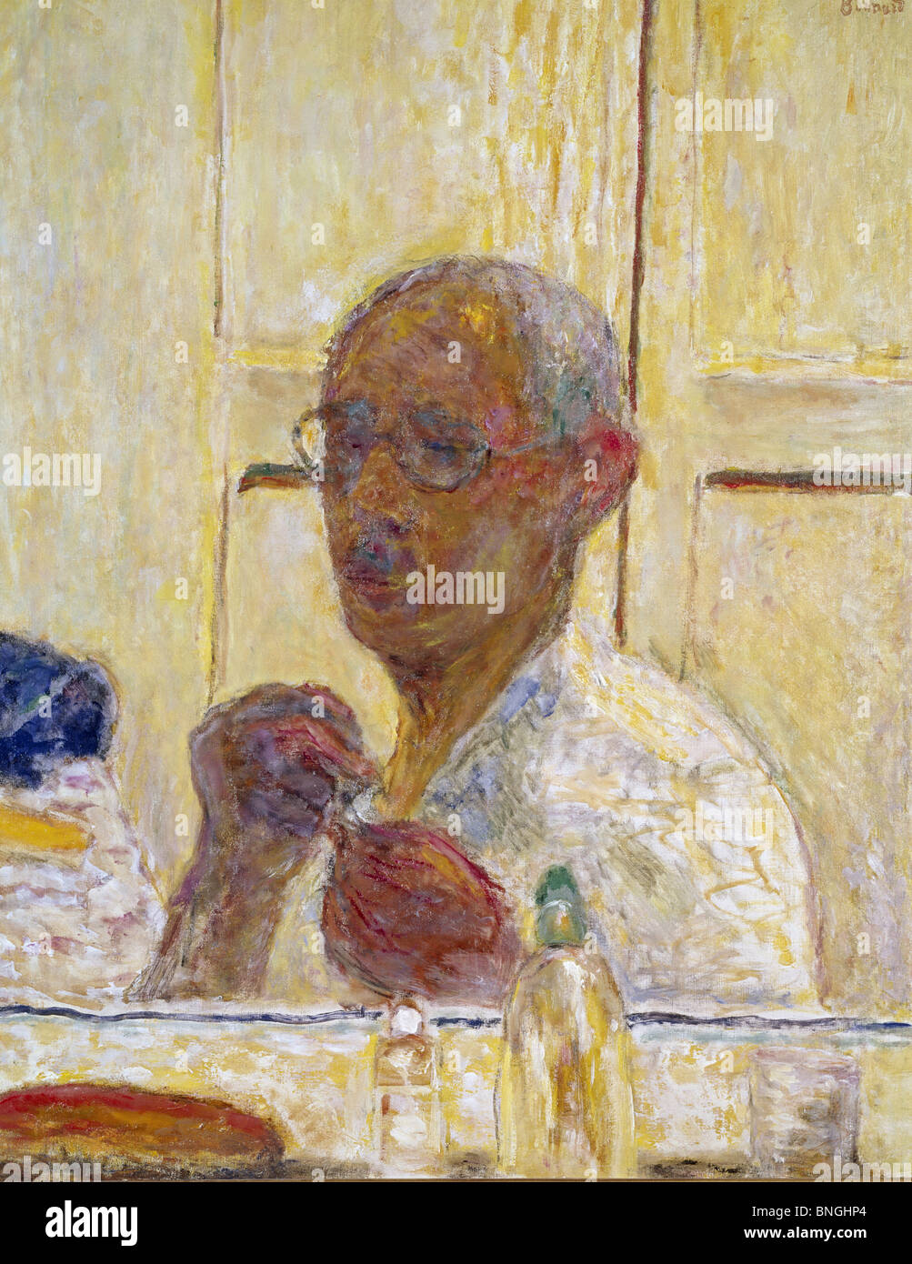 Self-portrait by Pierre Bonnard, (1867-1947), USA, New York City, Private Collection - Stock Image