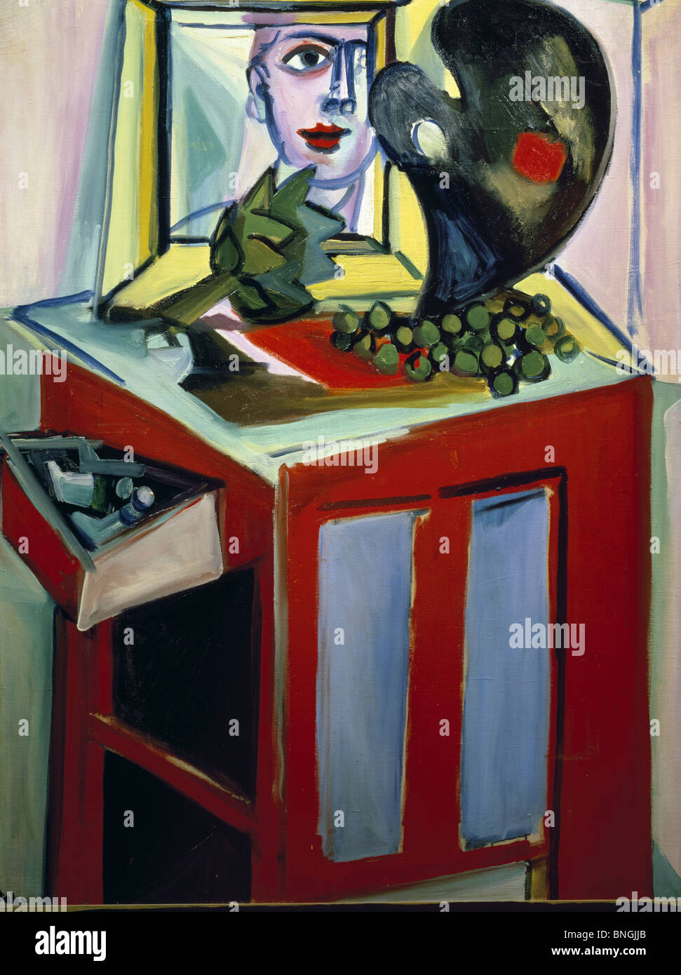 Still-life with Mirror by Pierre Tal-Coat, (1905-1985) - Stock Image