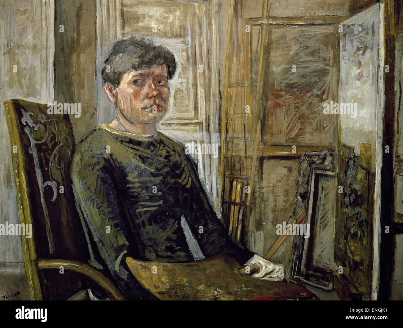 Self-portrait in an Armchair by Pierre Tal-Coat, 1936, (1905-1985) - Stock Image