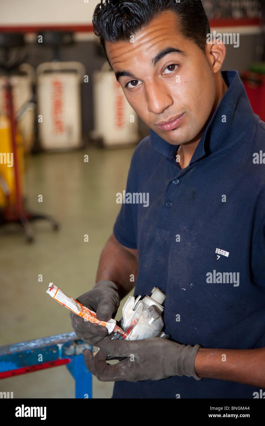Mechanic working - Stock Image