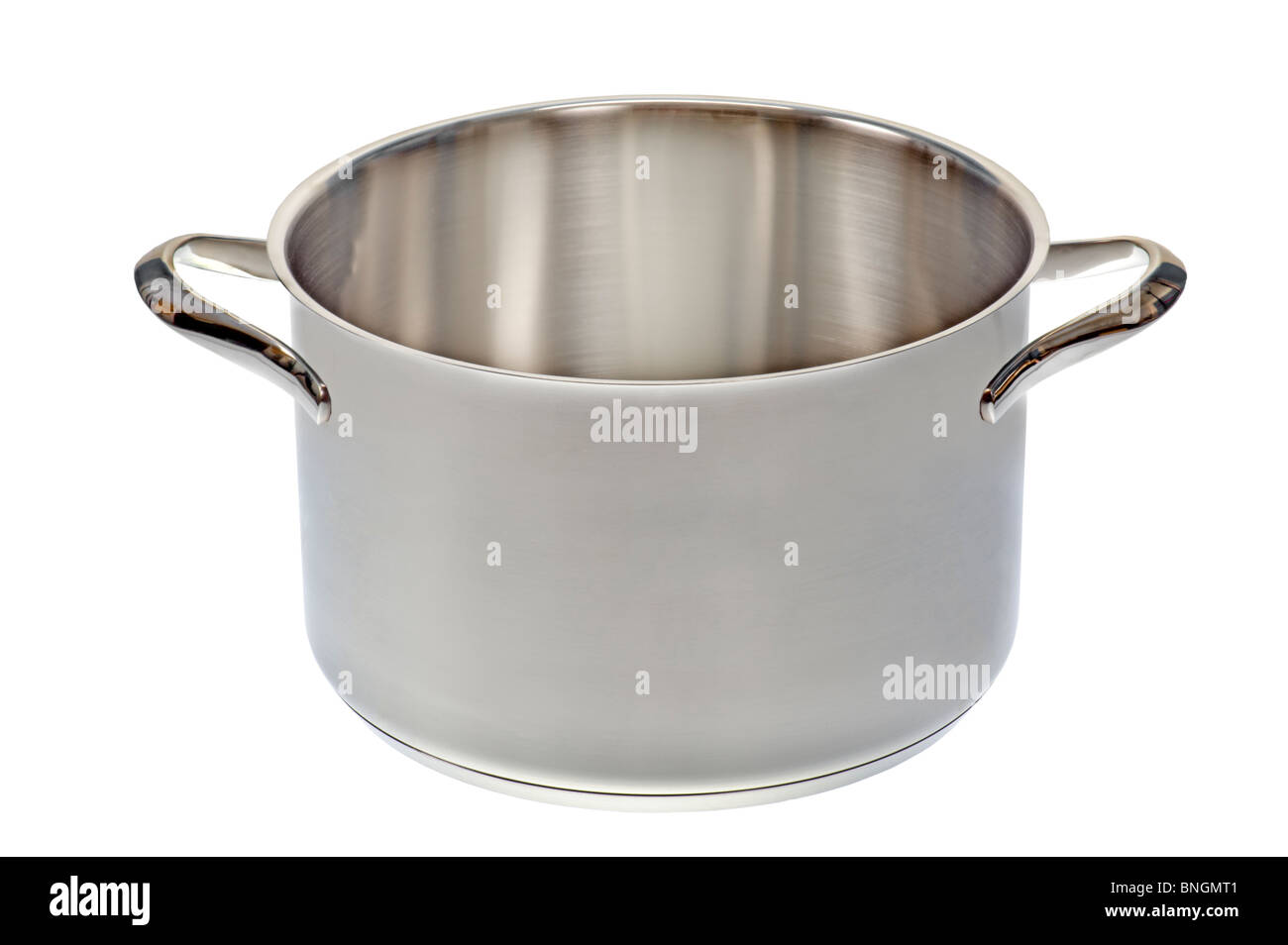 open cooking pot saucepan cookware cook ware cromargan high-grade steel special steel stainless corrosion-resistant - Stock Image