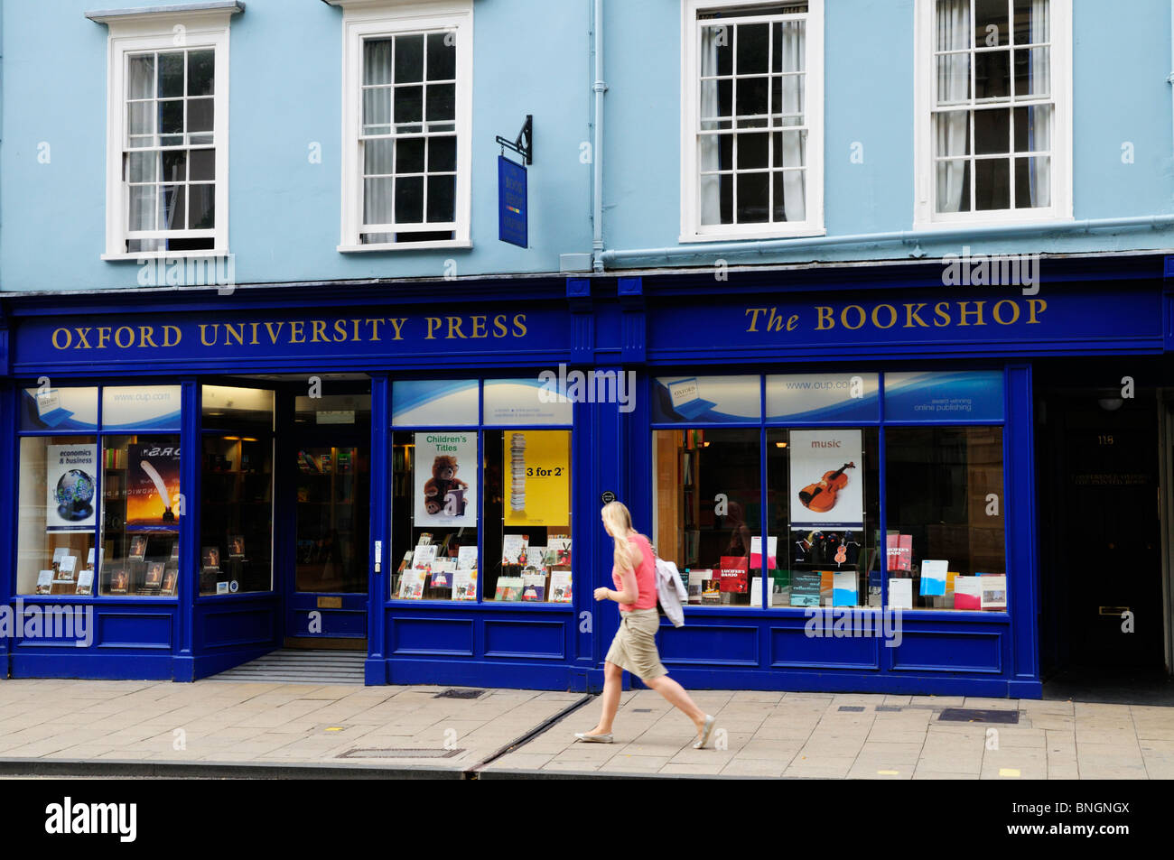 Oxford University Press Bookshop, Oxford, England, UK Stock
