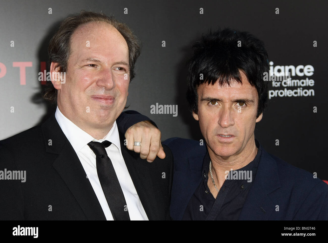 HANS ZIMMER JOHNNY MARR INCEPTION LOS ANGELES PREMIERE LOS ANGELES CALIFORNIA USA 13 July 2010 - Stock Image