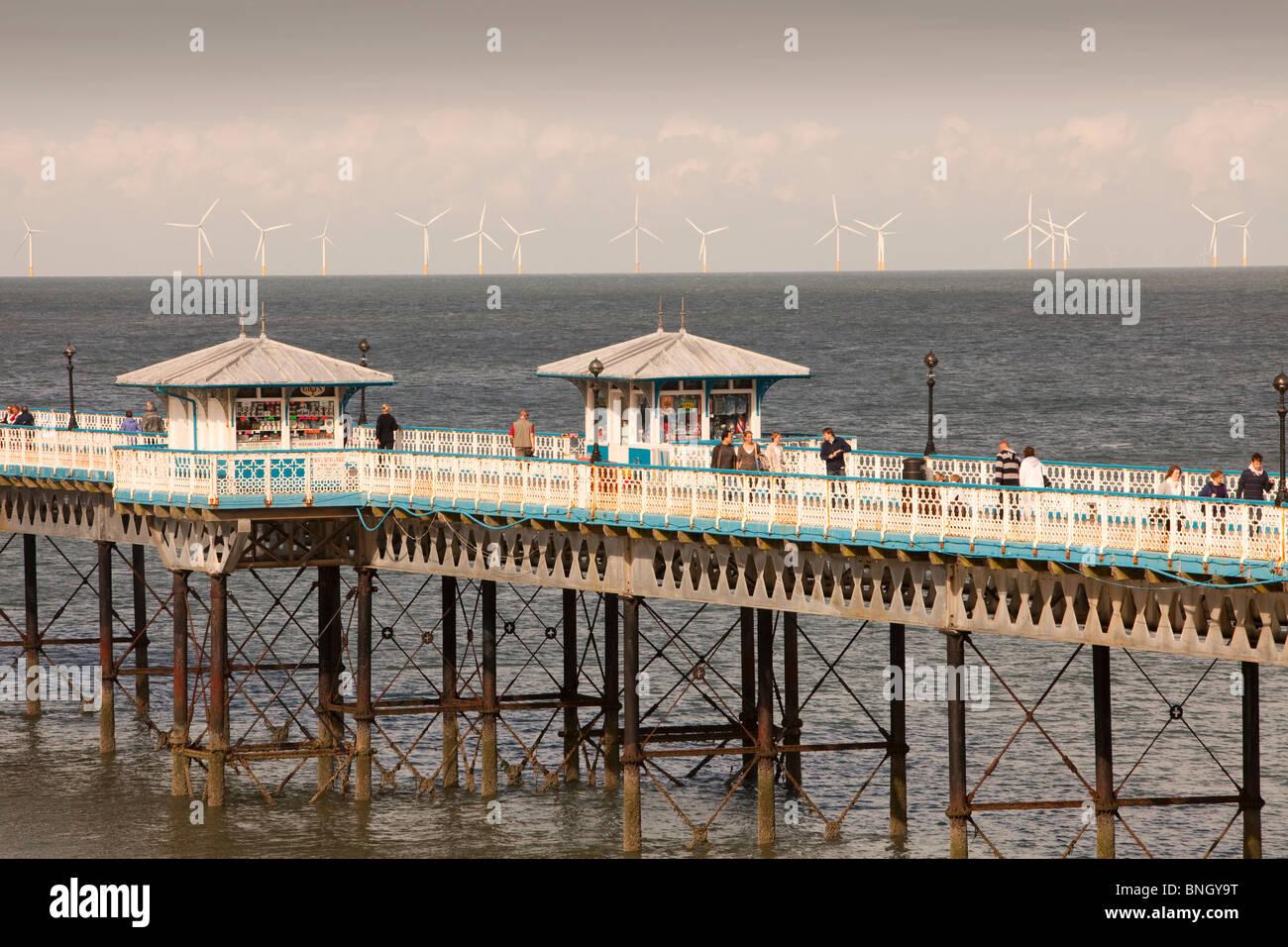 Rhyl Flats Offshore Wind Farm And Llandudno Pier North