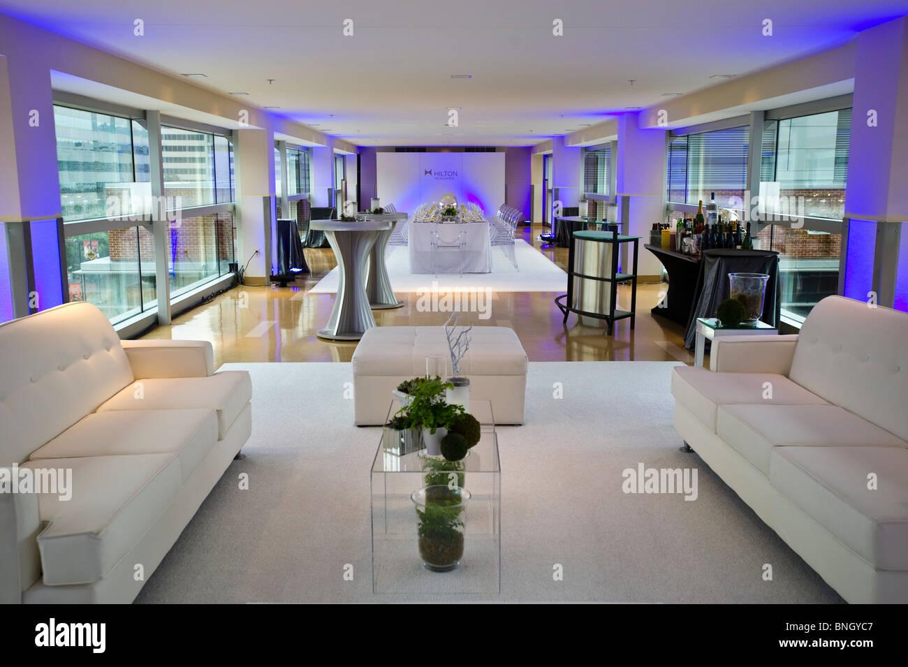 modern furniture cocktail area - Stock Image