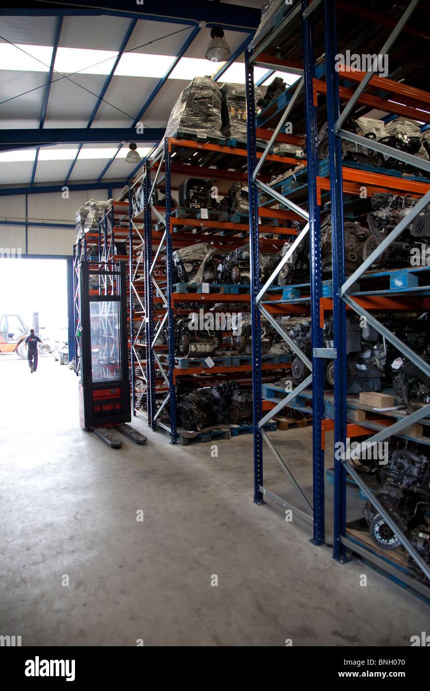 Parts shelfs - Stock Image