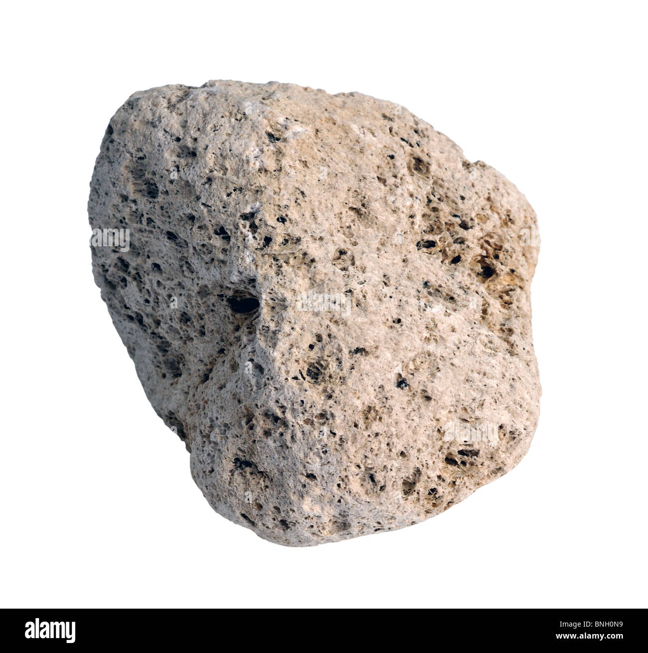 """Pumice stone or rock on """"white background"""" Stock Photo"""