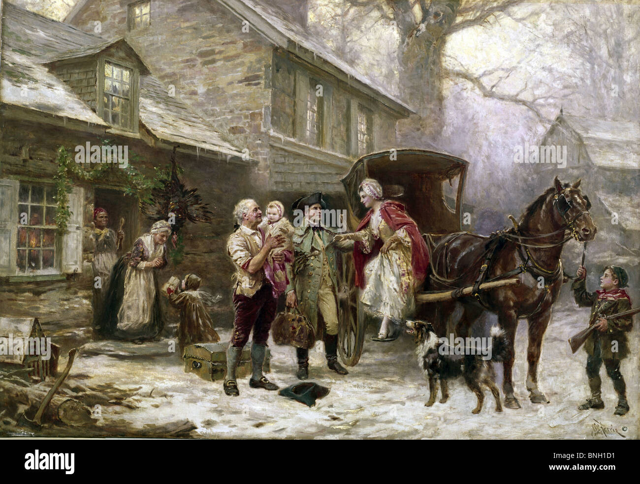 Home For Christmas, 1784, Jean Leon Gerome Ferris (1863-1930 American)