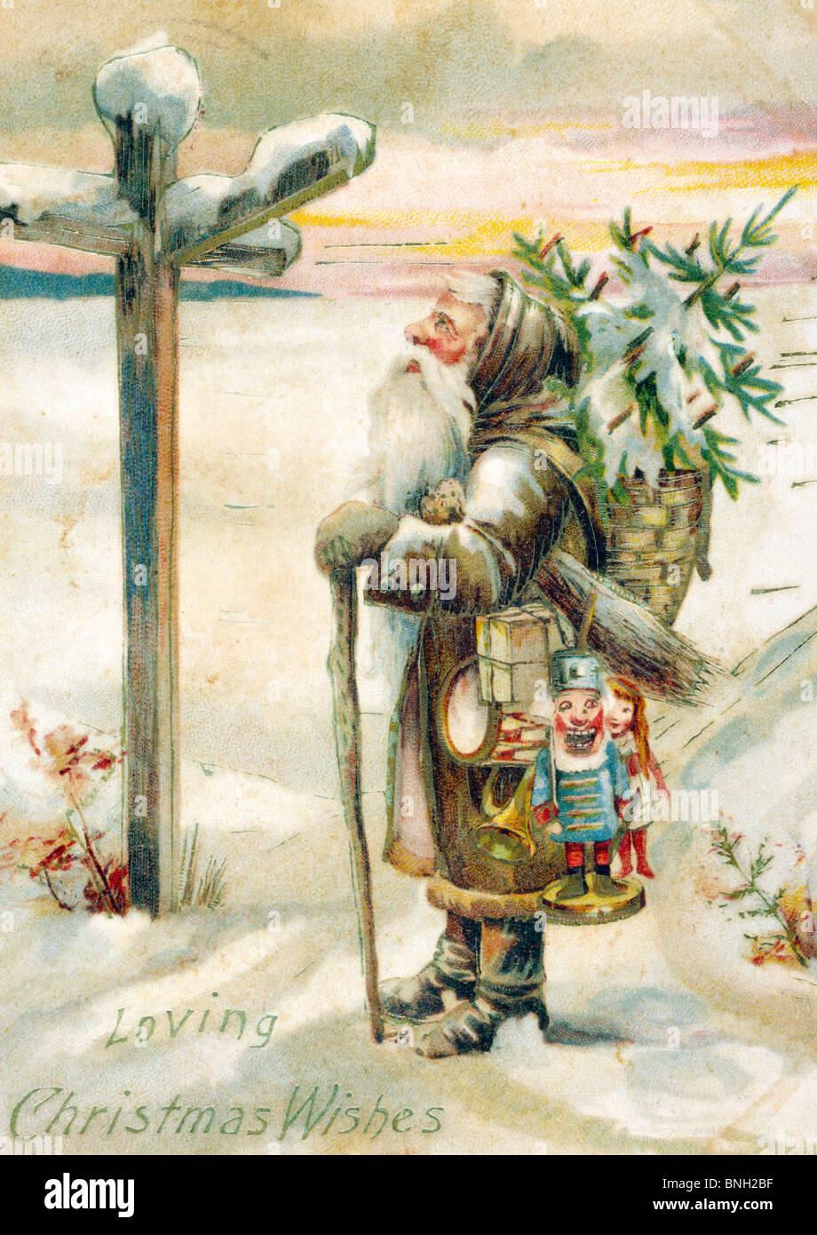 Loving Christmas Wishes, Nostalgia Cards - Stock Image