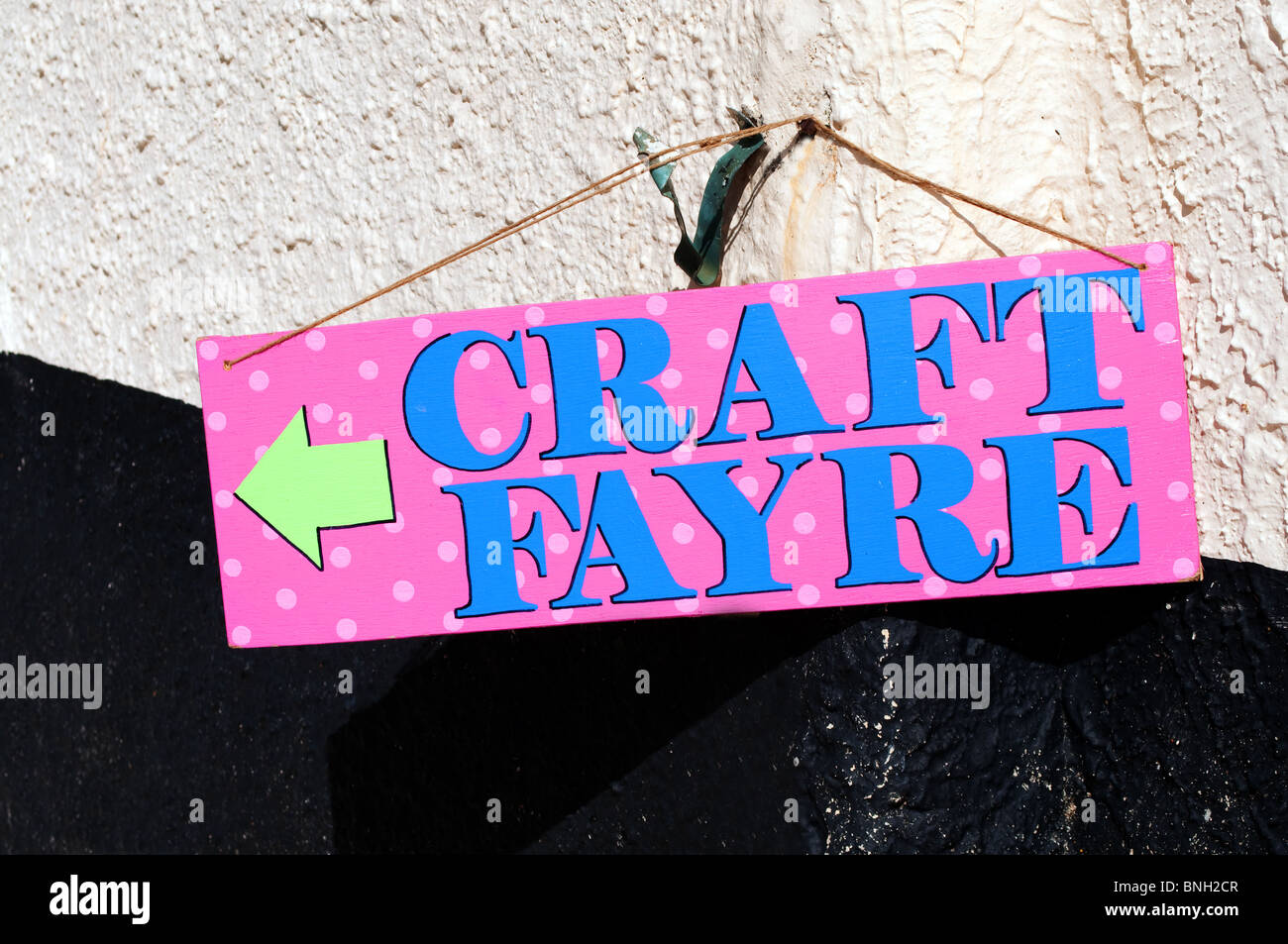 a craft fayre sign - Stock Image