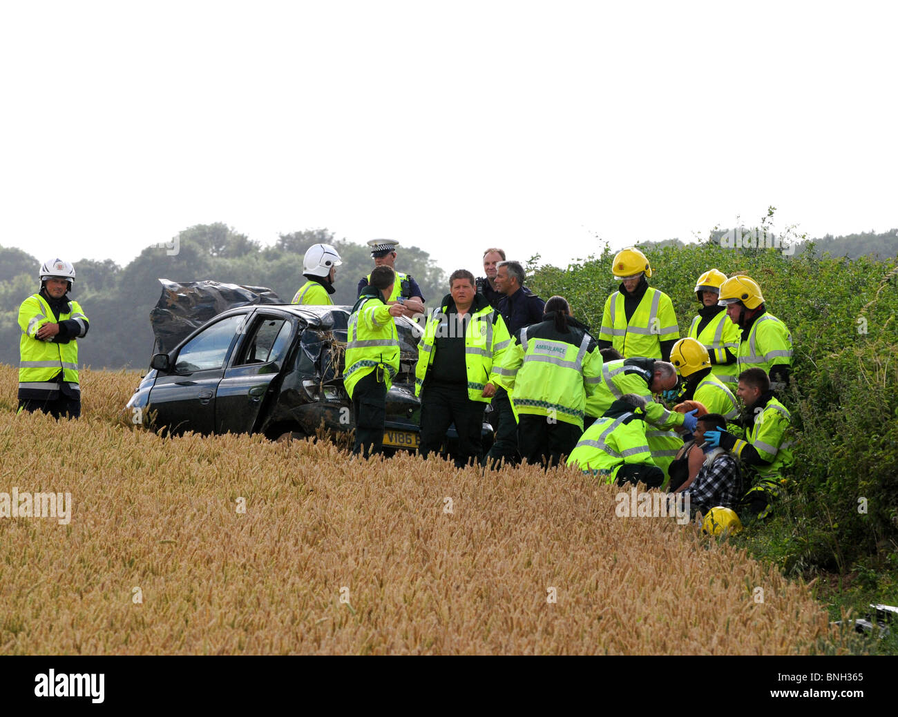 Car accident, UK - Stock Image