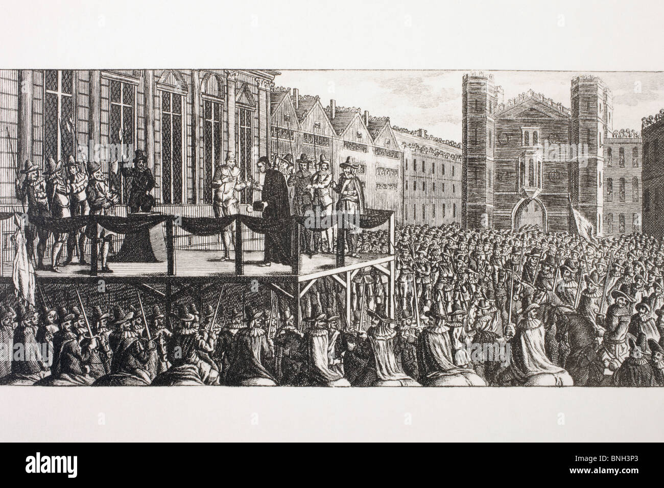 The execution of King Charles I of England. - Stock Image