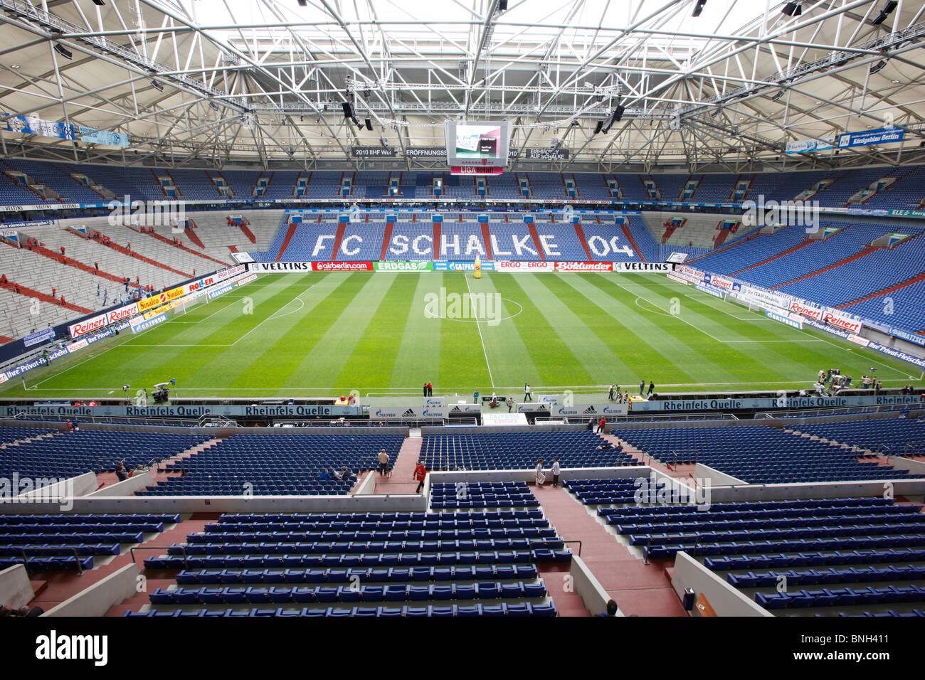 Veltins Areana, big sports stadium, home of German Bundesliga, first division club Schalke 04, Gelsenkrichen, Germany. - Stock Image