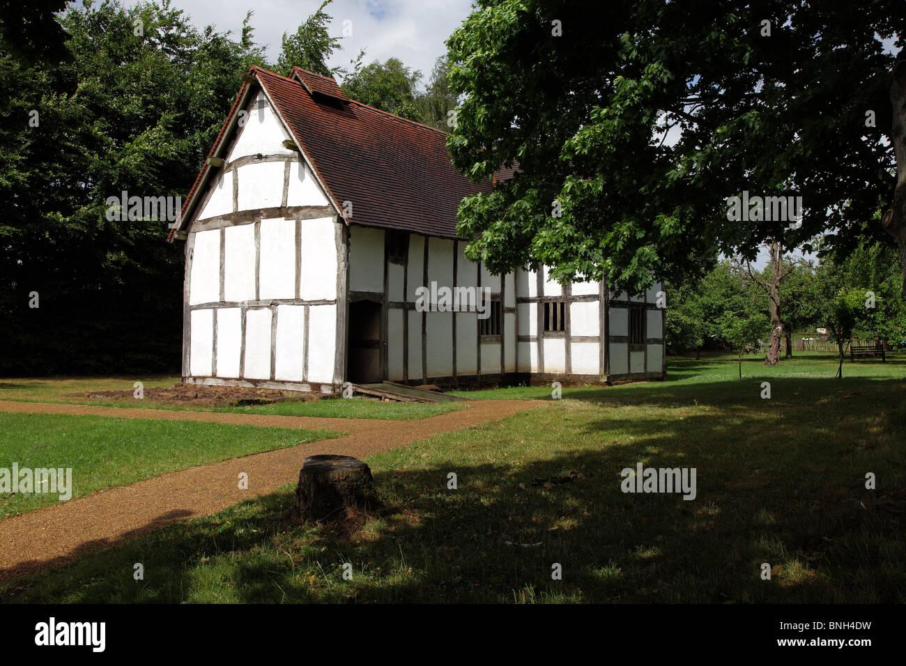 MERCHANT'S HOUSE.  WORCESTERSHIRE.  ENGLAND.  UK - Stock Image