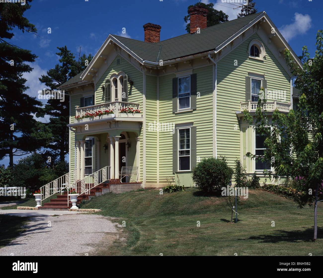 Victorian House, IL - Stock Image