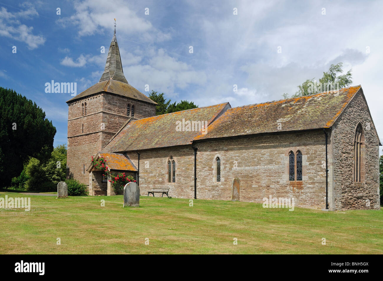 The Church of St. Michael & All Angels, in Edvin Ralph, Herefordshire, England - Stock Image