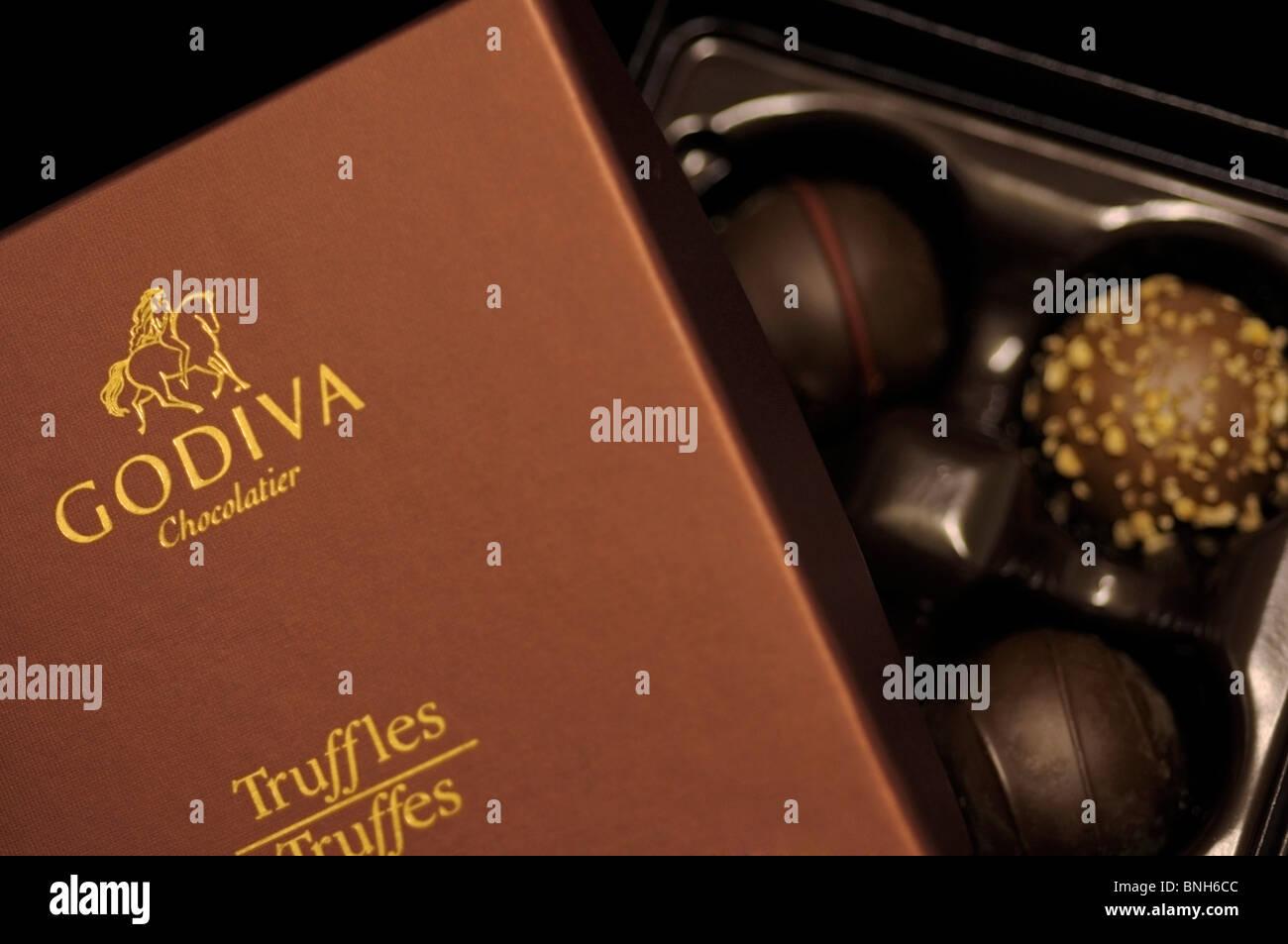 Box of Truffles - Stock Image
