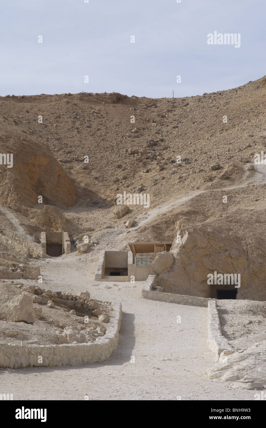 The Valley of the Queens where wives of Pharaohs were buried in ancient times. Thebes. Egypt. - Stock Image