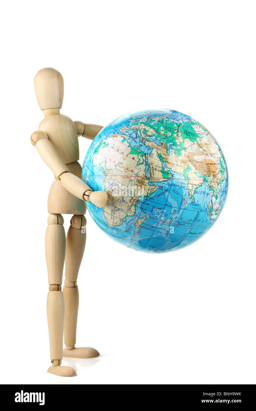 Man holding the world,Concept. - Stock Image