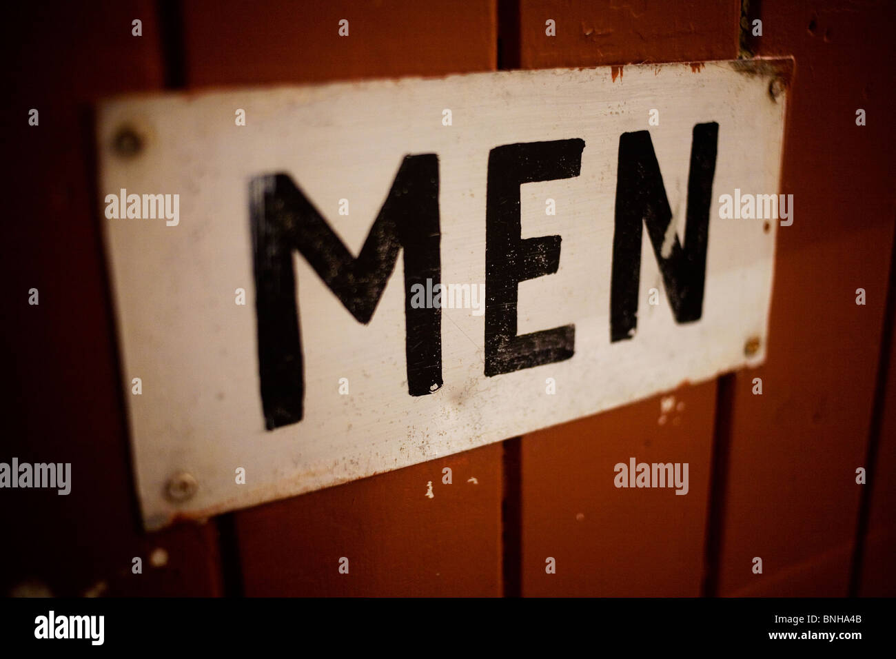 entrance to the mens bathroom stock image - Mens Bathroom Sign