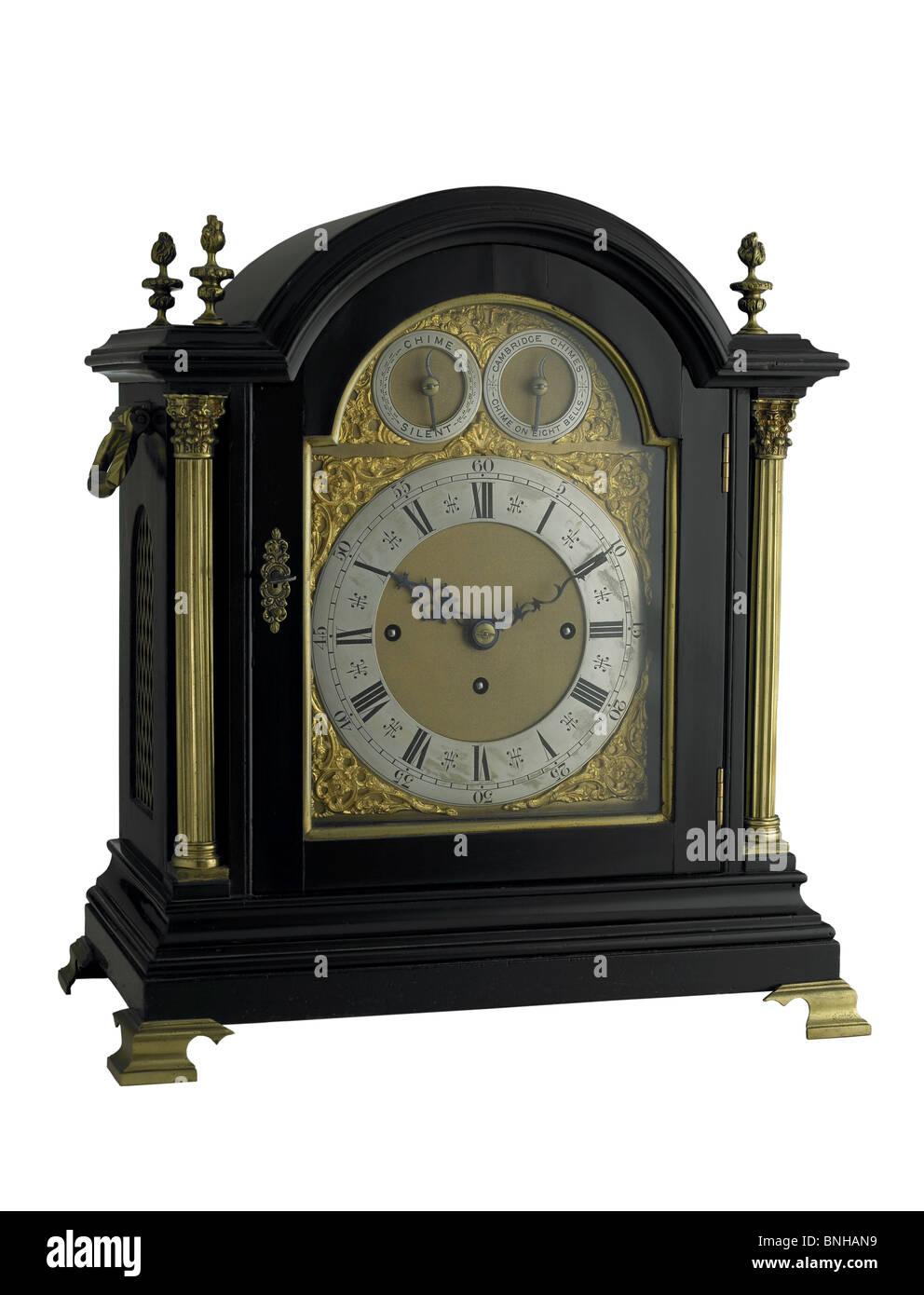 English bracket clock - Stock Image