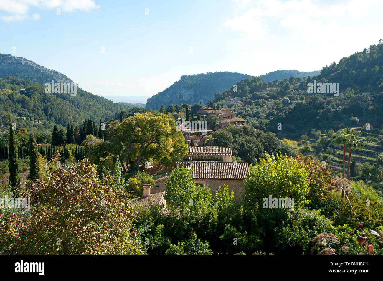 The countryside viewed from Valldemosa on the Spanish island of Majorca Stock Photo