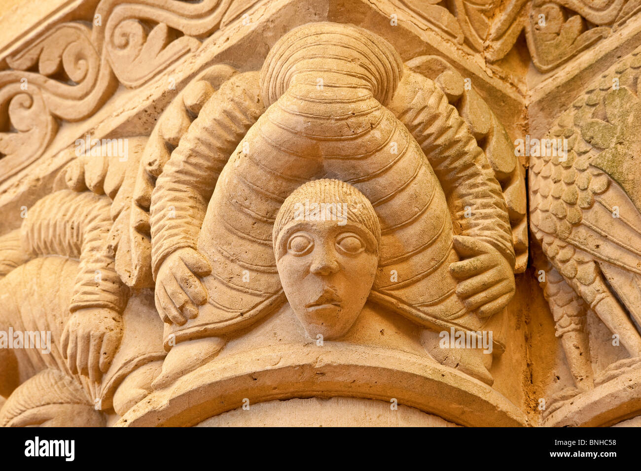 Aulnay de Saintonge, Saint Pierre Church, a stop on the road of Compostela - Stock Image