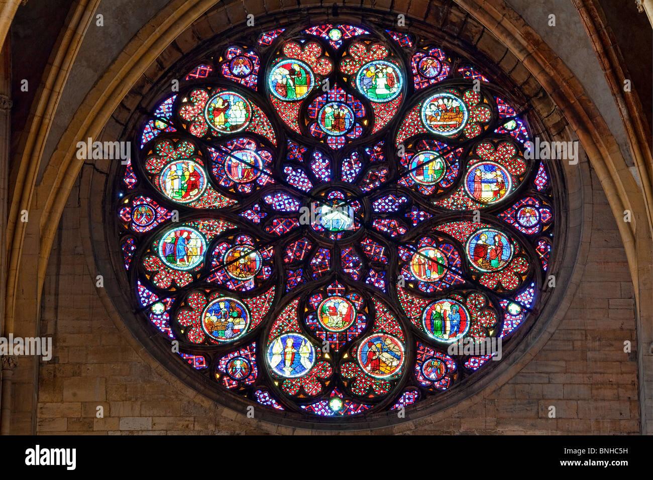 Europe, France, Rhone (69), Lyon, Saint-Jean Cathedral - Stock Image