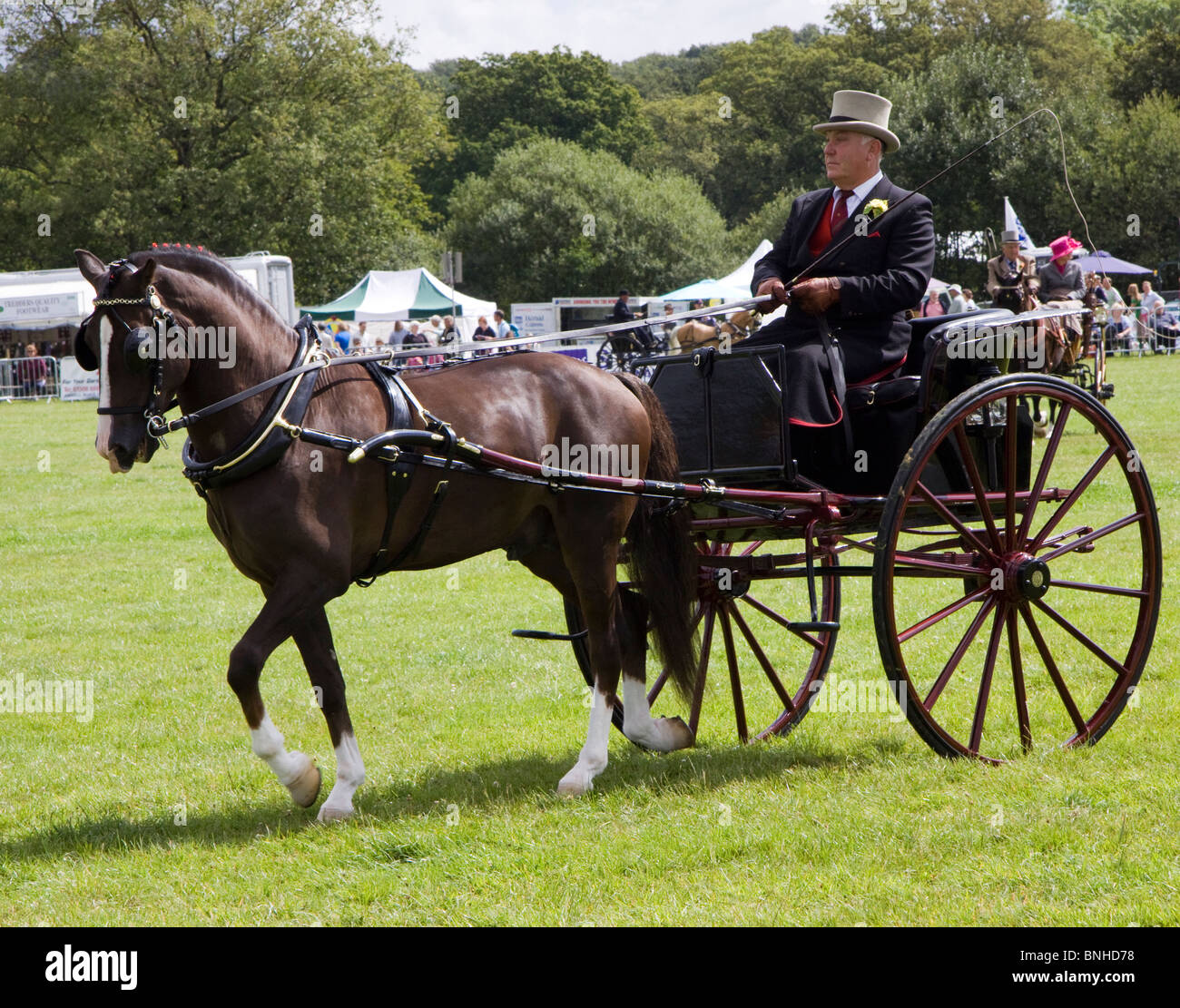 Entrant in the private light driving competition, Cranleigh Show 2009 - Stock Image